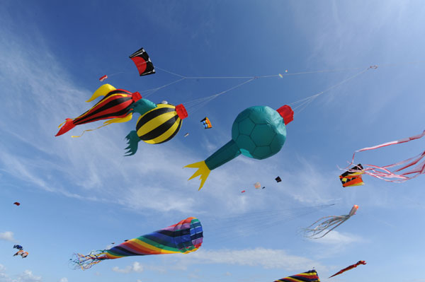 30. internationales Drachenfestival auf der Nordseeinsel Rømø
