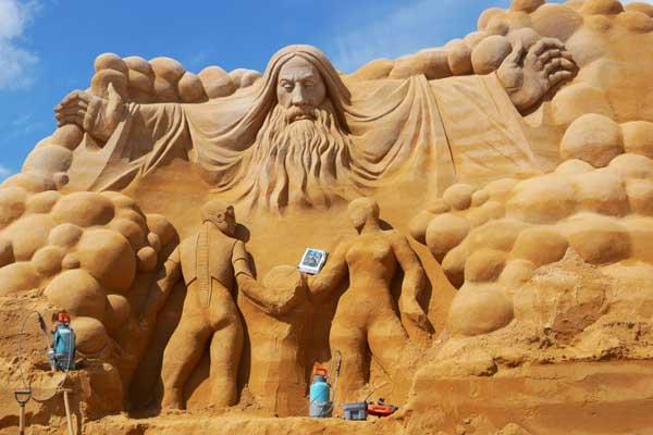 Sandskulpturenfestival in Søndervig
